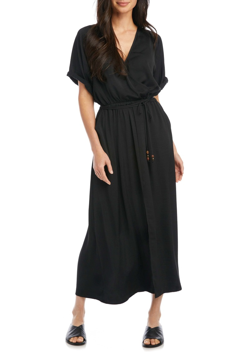 Karen Kane Cuffed Sleeve Midi Dress