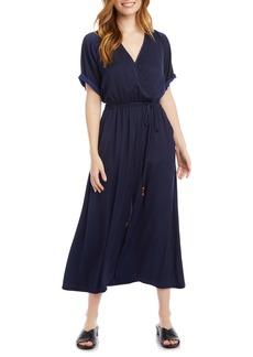 Karen Kane Cuffed Sleeve Midi Dress