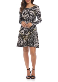 Karen Kane Dakota Long Sleeve Print Dress
