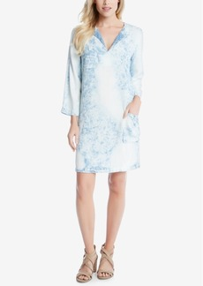 Karen Kane Denim Acid Wash Shift Dress