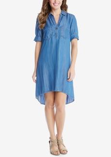 Karen Kane Denim High-Low Shirtdress