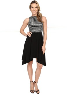 Karen Kane Diamond Contrast Handkerchief Dress