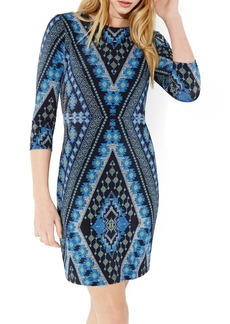 Karen Kane Diamond Print Jersey Sheath Dress