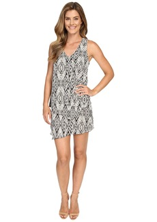 Karen Kane Diamond Print Multi-Layer Dress