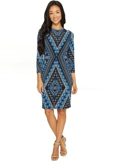 Karen Kane Diamond Print Sheath Dress