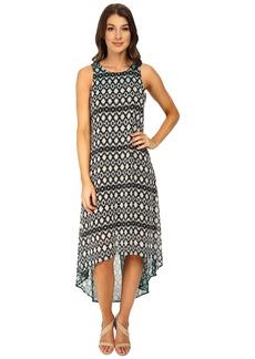 Karen Kane Dip Dye Hi-Lo Hem Dress