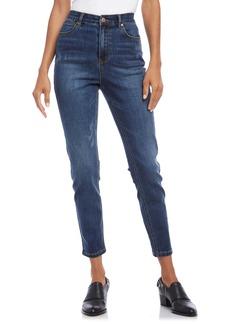 Karen Kane Distressed High Waist Skinny Jeans (Denim)