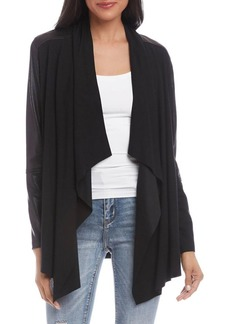 Karen Kane Draped Front Open Jacket