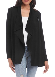 Karen Kane Draped Toggle Knit Jacket