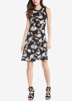Karen Kane Embroidered A-Line Dress