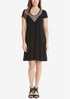 Karen Kane Embroidered A-Line Dress