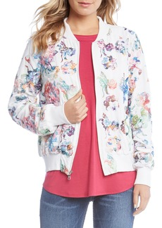 Karen Kane Embroidered Floral Bomber Jacket