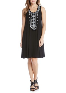 Karen Kane Embroidered Jersey Tank Dress