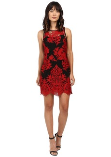 Karen Kane Embroidered Net Dress