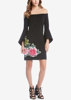 Karen Kane Embroidered Off-The-Shoulder Dress