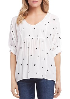 Karen Kane Embroidered Star-Motif Top