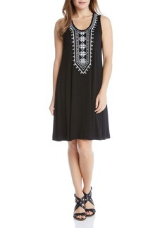 Karen Kane Embroidered Tank Dress