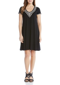 Karen Kane Embroidered Tee Dress