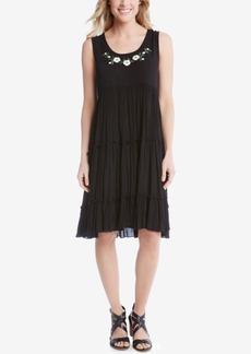 Karen Kane Embroidered Tiered Dress