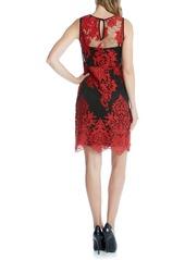 Karen Kane Embroidered Tulle A-Line Dress