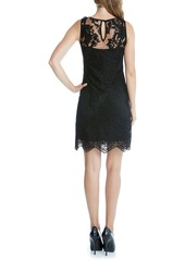 Karen Kane Embroidered Tulle A-Line Dress