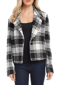 Karen Kane English Plaid Tweed Jacket