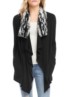 Karen Kane Faux Fur Collar Jacket