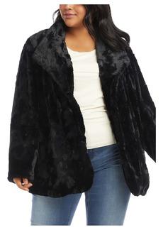Karen Kane Faux Fur Jacket (Plus Size)