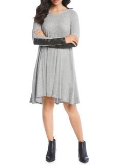 Karen Kane Faux Leather Detail Dress