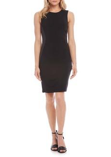 Karen Kane Faux Leather Inset Sheath Dress