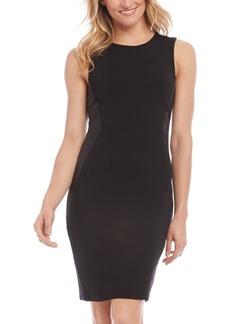 Karen Kane Faux-Leather-Panel Sheath Dress