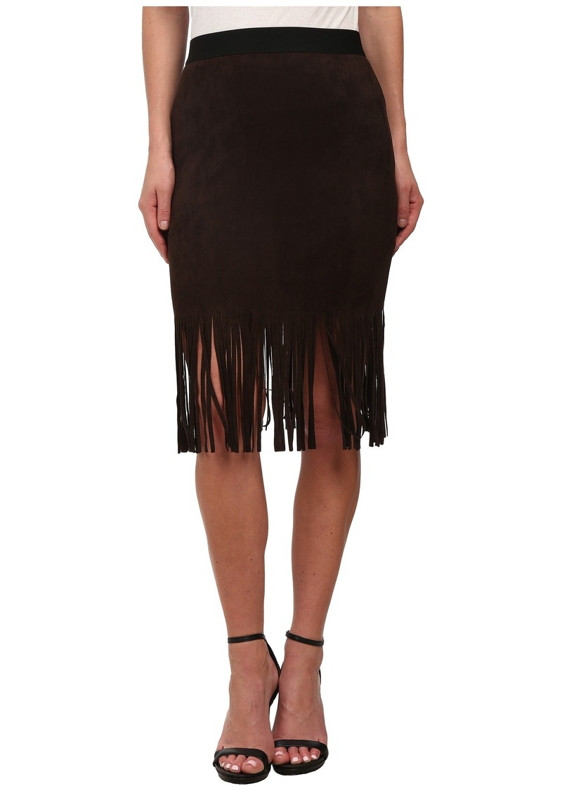 Karen Kane Faux Suede Fringe Skirt
