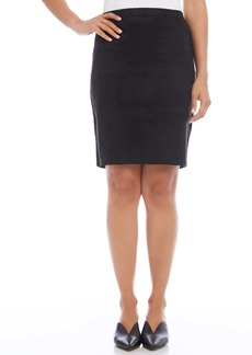 Karen Kane Faux Suede Pencil Skirt