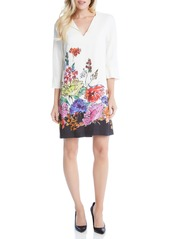 Karen Kane Floral Border Print Shift Dress