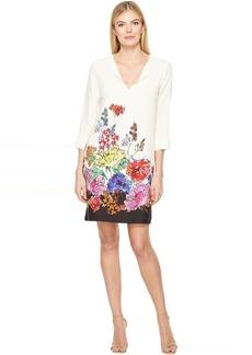 Karen Kane Floral Border Shift Dress