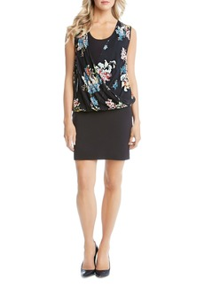 Karen Kane Floral Drape Front Dress
