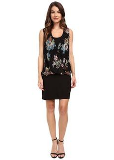 Karen Kane Floral Drape Front Dress
