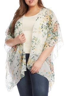Karen Kane Floral Drape Front Wrap (Plus Size)
