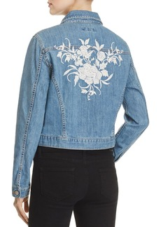 Karen Kane Floral Embroidered Denim Jacket - 100% Exclusive