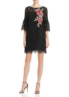 Karen Kane Floral Embroidered Lace Bell Sleeve Dress - 100% Exclusive