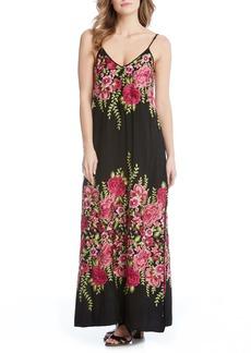 Karen Kane Floral Embroidered Maxi Dress