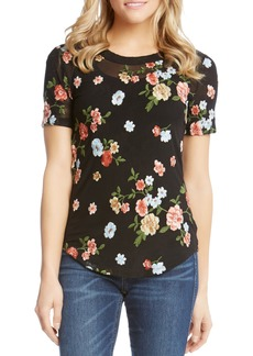 Karen Kane Floral Embroidered Top