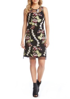 Karen Kane Floral Embroidery A-Line Dress