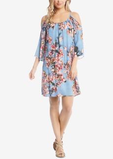 Karen Kane Floral Fresco Cold-Shoulder Dress