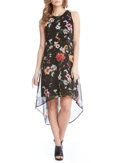 Karen Kane Floral High/Low A-Line Dress