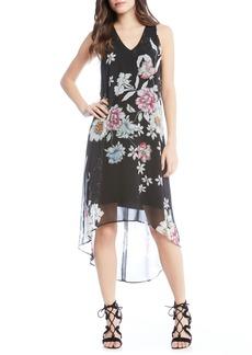 Karen Kane Floral High/Low Dress