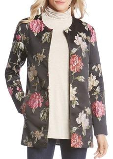 Karen Kane Floral-Jacquard Jacket