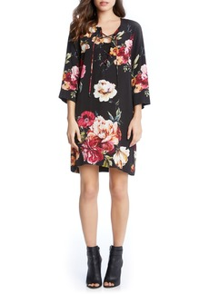 Karen Kane Floral Lace-Up Shift Dress