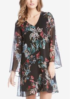 Karen Kane Floral-Print Bell-Sleeve Dress