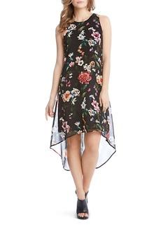 Karen Kane Floral-Print High/Low Dress
